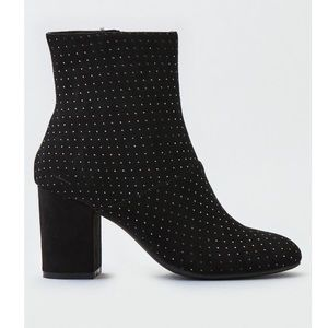 American Eagle Black Studded Bootie